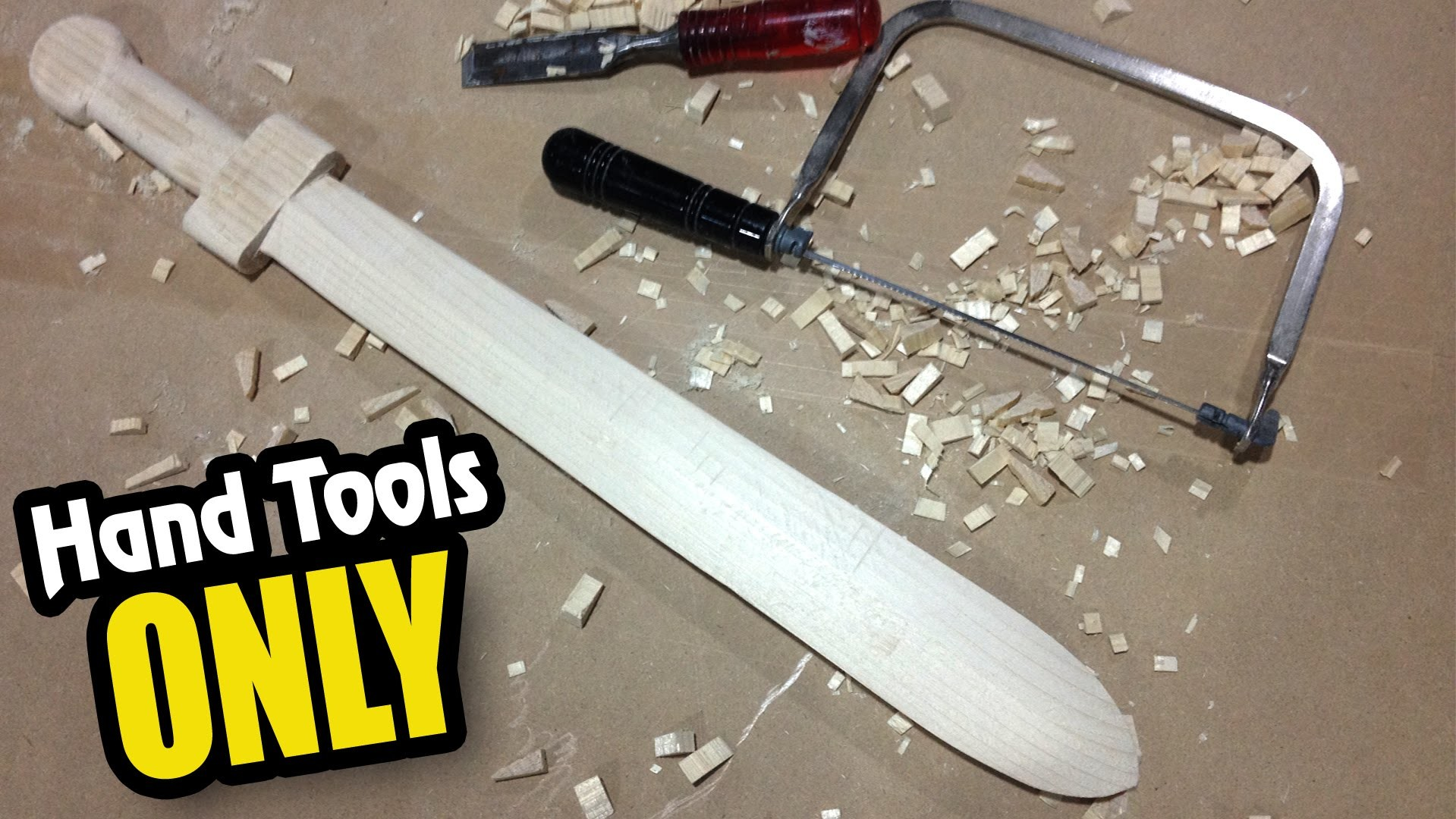 How to Make: a Wood Sword with NO power tools