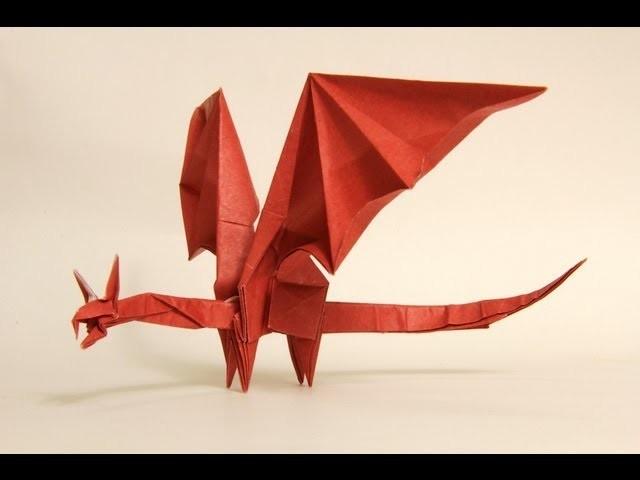 Как сделать из бумаги дракона большого