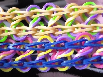 How to make the rainbow loom: Taffy Twist. Como Hacer  Pulsera De Gomitas