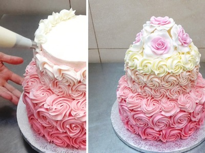 How To Pipe Buttercream Roses by CakesStepbyStep