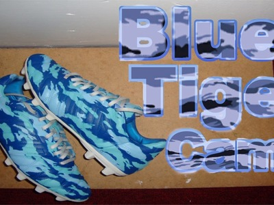 How to Spray Paint Your Cleats Blue Tiger Camo! (Black Ops 2 version)
