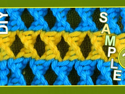 Macrame ABC - pattern sample #11