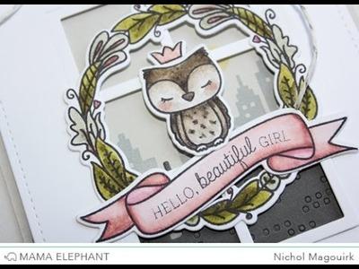 "Mama Elephant Charmed | ""Hello Beautiful Girl"" Card"