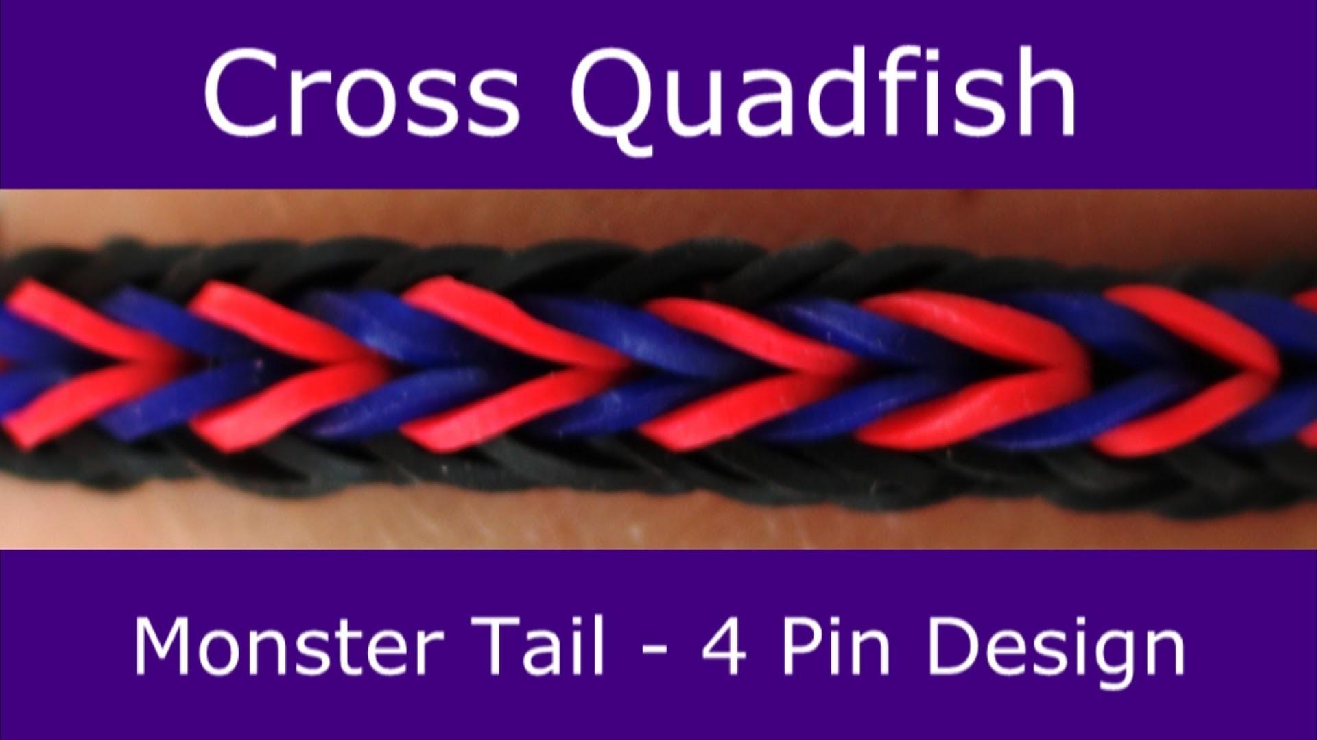 Monster Tail®  Cross Quadfish Bracelet by Rainbow Loom