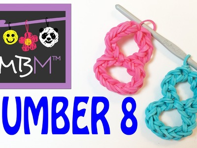 Number Eight #8 Charm Without the Rainbow Loom Tutorial