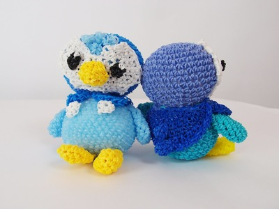 Piplup Pokemon Rainbow Loom Bands Amigurumi Loomigurumi Hook Only Tutorial Part 1 of 2