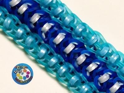 "Rainbow Loom Bracelet ""BANDEAU"" (Original Design) (ref #6k)"
