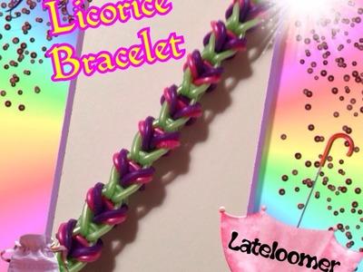 Rainbow Loom Licorice Bracelet. How to