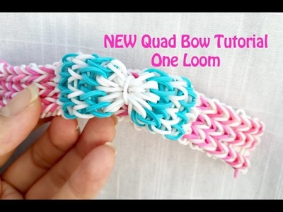 Rainbow Loom: Quad Bow Tutorial using ONE loom