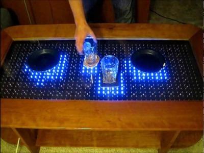 Reactive LED Coffee Table - Arduino