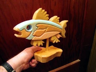 Scroll Saw segmentation Fish woodworking project (no cost)