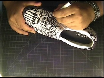 Shoe Art  Freestyle Drawing (pen and ink)