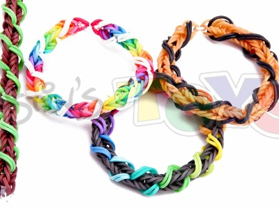 Spiral Wrap Fishtail Bracelet on Rainbow Loom or Monster Tail