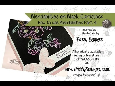 Stampin Up Blendabilities Markers on Black Cardstock