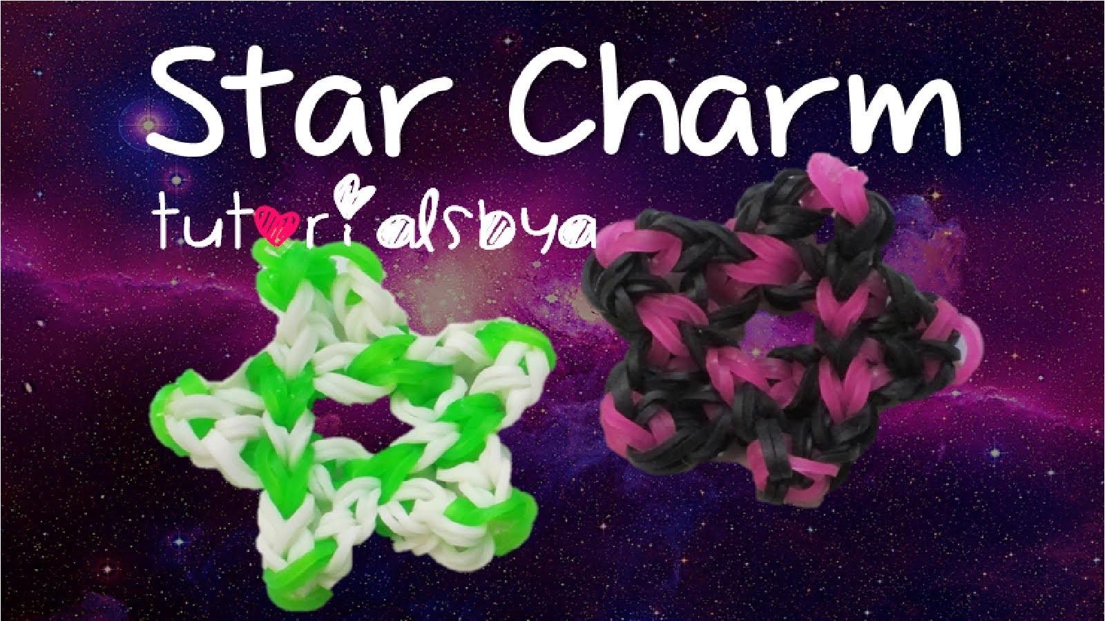 Star Charm Rainbow Loom- Design Inspired by JustinsToys; Tutorial by TutorialsByA