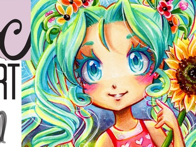 Sunflower Wynn, OC (Rainbow Line Art. Copic Marker Coloring)