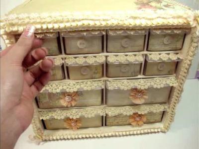 Vintage Shabby Chic Storage Organizer Idea