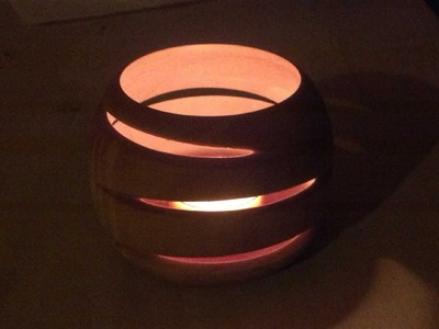 Woodturning Eccentric or off center tea light