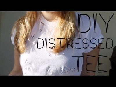 12 DAYS of DIY: Distressed Tee