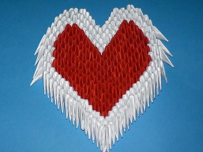 3D origami heart valentine Variant 3 tutorial (instruction)