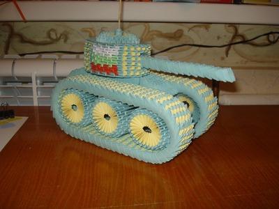 3D Origami Tank Tutorial