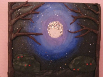 3D painting #2 : Full moon forest!