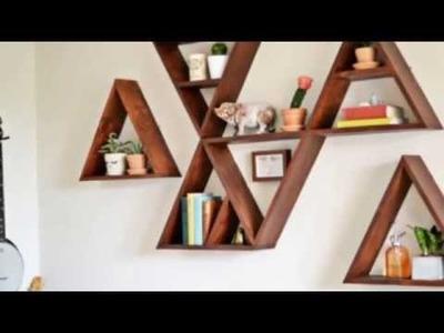 9 Trendy DIY Geometric Wall Shelf Projects