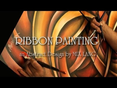 Abstract Ribbon Painting Techniques How to Demo Blending, Shading
