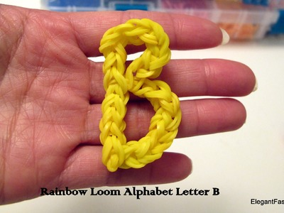 Alphabet Letter B charm on rainbow loom