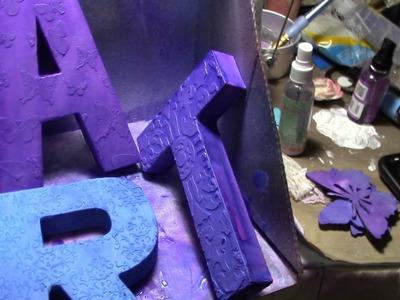 ART Paper Mache letters