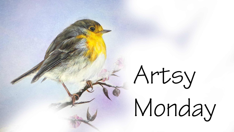 Artsy Monday; Cute Bird.Robin Speed Drawing