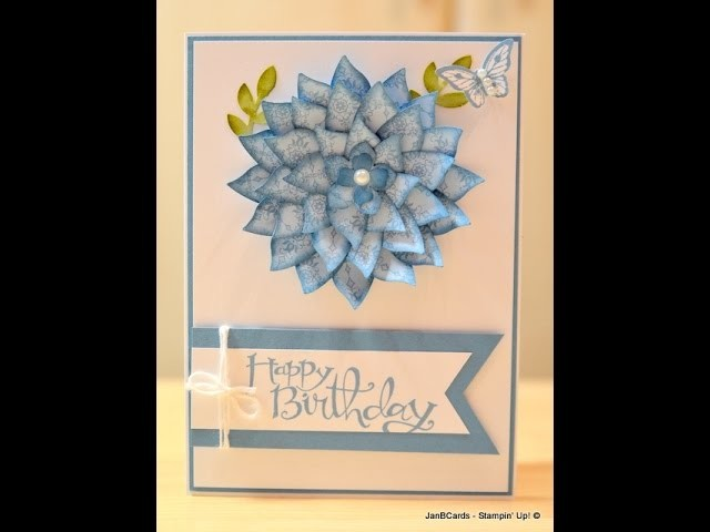Bird's Wing Flower - JanB UK Stampin' Up! Demonstrator Independent