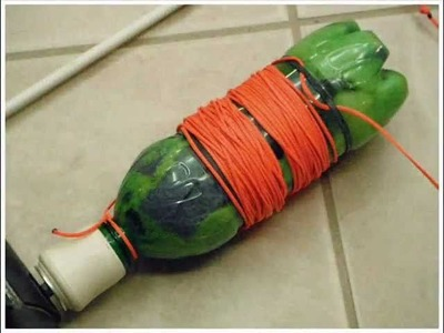Bowfishing Reel Made From a Soda Bottle