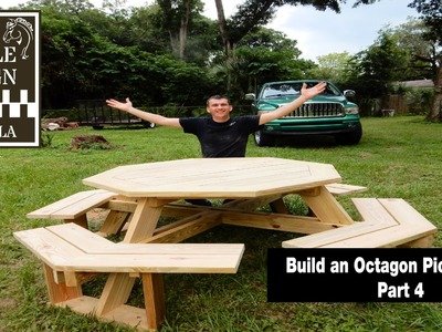Build an Octagon Picnic Table  Part 4