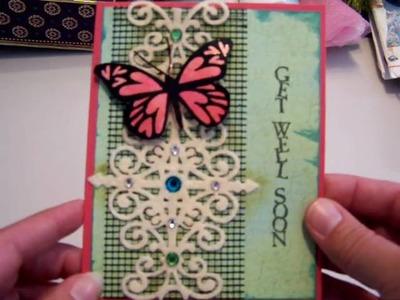 Butterfly Card, Joann's & Garage Sale Haul