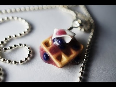 Charm Size Waffle Tutorial, Miniature Food Tutorial