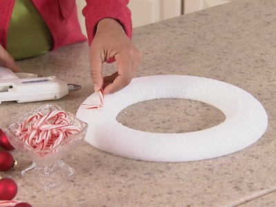 Create a Wreath out of CANDY CANES