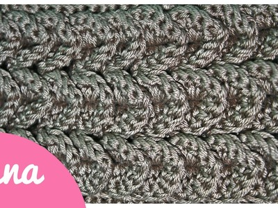 Crochet crocodile stitch aligned