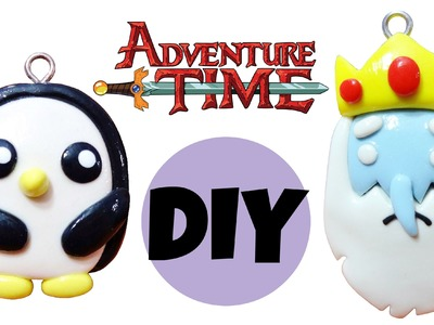 DIY Adventure Time | Gunter + Ice King | Kawaii Polymer Clay Charms
