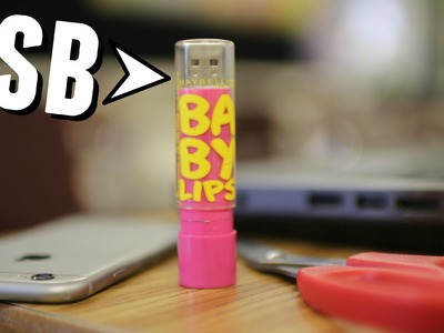 DIY: BABY LIPS USB FLASH DRIVE (School Supplies)