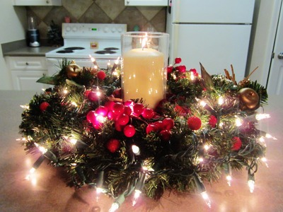 DIY Christmas.Holiday Centerpiece