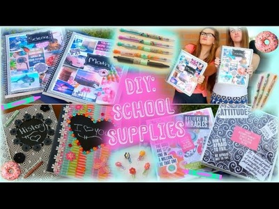 DIY: Easy & Inexpensive Back to School Supplies Ideas! ♡ | Jessica Reid