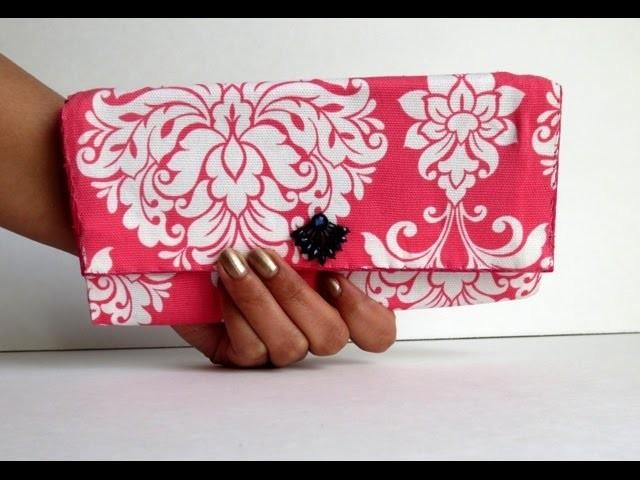 DIY Fabric & Cardboard Purse | Card Holder | Clutch