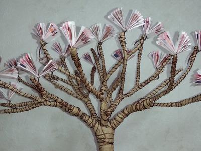 DIY Gift of Money: Blossoming Cherry Tree. Geldgeschenke basteln: Blühender Kirschbaum