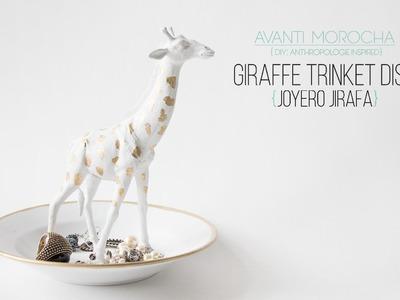DIY Giraffe Trinket Dish - Joyero Jirafa - Anthropologie Inspired