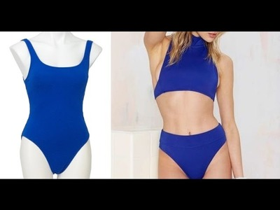 DIY High Waist Swimsuit