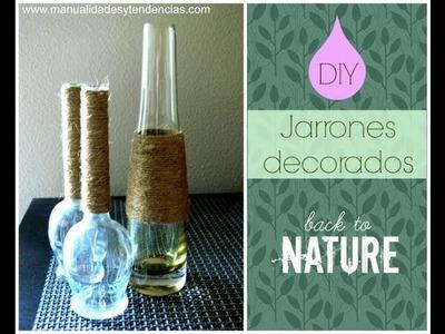 DIY: Jarrón customizado. Customized vase