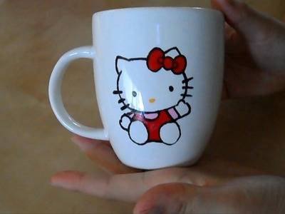 DIY: Mug painting 3 (Hello Kitty)