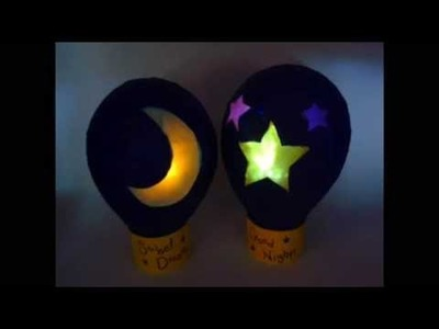 DIY. Night lamp ♥ Manualidades. Lampara con Papel China