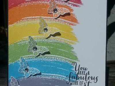 Easy Rainbow card using Stampin' Up!'s new Work of Art!